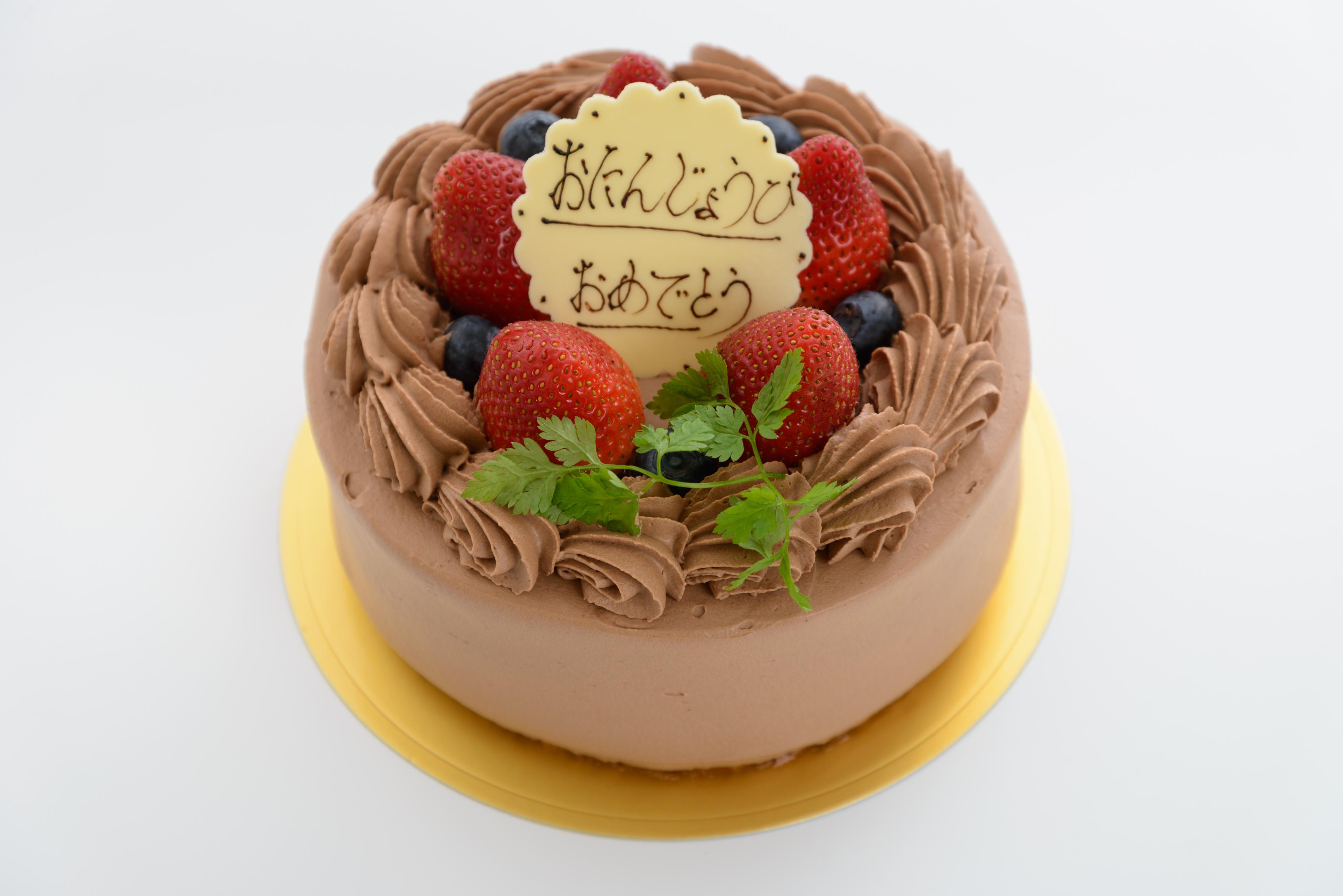 <H1>生チョコデコレーション</H1> スポンジに生チョコクリームを二段サンド。     軽い口当たりのチョコケーキはお子様にも人気です